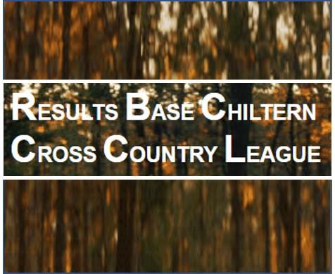 Chiltern XC league